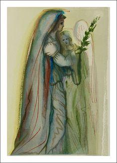 Salvador Dalí - Divina Commedia, Paradise 32, Preparation for the Final Prayer a