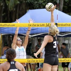 The University of Hawaii Rainbow Wahine hosted its second and final NCAA sand volleyball match of the 2012 season