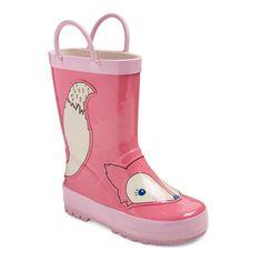 Toddler Girls' Zoey Fox Rain Boots Cat & Jack - Pink XL, Size: XL (11-12)
