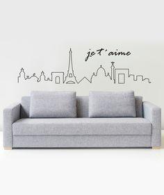 Je t'aime, París Lineal - Vinilo Adhesivo. Encuentra más vinilos sobre ciudades del mundo en www.giferent.com/ciudades-del-mundo