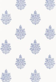 Wallcovering / Wallpaper | Asara Flower in Delft | Schumacher