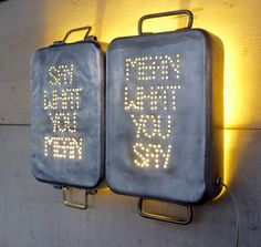Twin Industrial Wall Decor Say What You Mean Mean by deadpancharm, $161.00