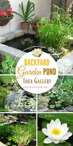 17+ Backyard Garden Pond Ideas   All Sizes And Budgets. #gardening  #gardenponds