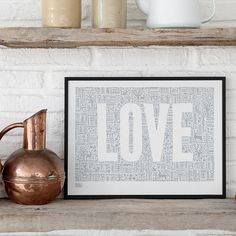 Bold & Noble love letters print - hardtofind.