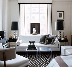 Gilt's rooms are gorgeous. I love this sleek well proportioned couch.