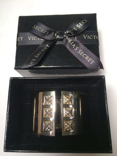 b03075b1f6 Victorias Secret Cuff Bracelet Hinged Silver New with Tags in Box   VictoriasSecret  Cuff Jewelry