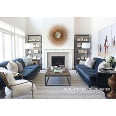 Classic Blue Couch Living Room Ideas Interior