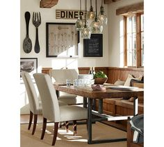Griffin Coffee Table | Pottery Barn · Dining Room Wall DecorRustic Dining  RoomsDining ... Part 83