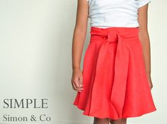 Wrap Skirt made from a Circle Skirt | Simple Simon and Company