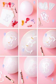 ecrire sur un ballon avec des marqueurs posca et pochoirs !