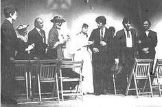 Thornton Wilder, 41, played the role of Stage Manager in a 1938 production of his new play, Our Town. This look at daily life in a fictitious Granite State village used no sets and few props (a concept borrowed from Japan's Noh plays), and the actors often directly addressed the audience. The innovative drama won a 1938 Pulitzer Prize.