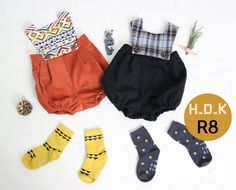 baby sewing pattern pdf/ kids romper with buttons by hellodearkids