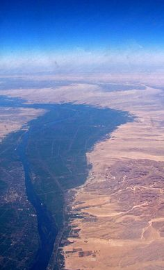 The Nile River (from the plane) by Sebastià Giralt, via Flickr  How can be river and desert ???