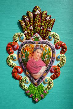 Frida Kahlo Tin Heart:  Frida AND a milagro.  Ahhh, love it!