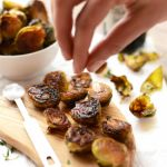 Balsamic Sea Salt Roasted Brussels Sprouts + Healthy Holiday Sides - Fit Foodie Finds