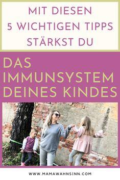 Gerade jetzt ist es wichtiger denn je, das Immunsystem deines Kindes zu stärken. Diese fünf Punkte beachte ich, das mache ich mit meinen vier Kindern, damit sie gesund in den Herbst und Winter kommen. Gesunde Ernährung, Bewegung an der frischen Luft, es ist nicht immer so einfach...