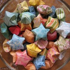 Star Origami - these are fun and easy to make. I made LOTS of them when I was school :D