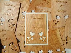 Hochzeitseinladung aus Holzfurnier