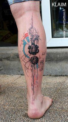 O incrível trabalho do tatuador francês Klaim do Street Tattoo | Tinta na Pele