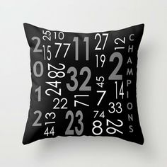 ON SALE LA Kings Hockey Decorative Throw Pillow by PillowsByElissa, $23.00  accent pillow nhl sports hockey los angeles kings stanley cup champions 2012