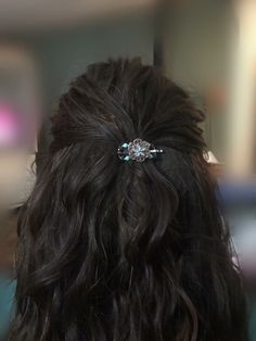 Tawny flexi hair clip in gorgeous copper and turquoise. Almost anyone can wear a mini!