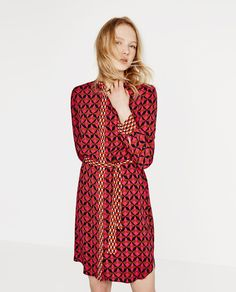 CONTRAST PRINT TUNIC-View All-DRESSES-WOMAN | ZARA United States