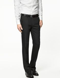 FALSE PLAIN CHARCOAL GREY TROUSERS - Suits - Man - New collection - ZARA United States