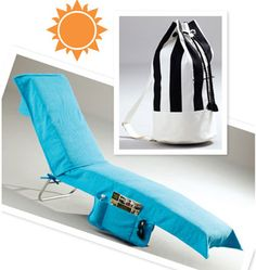 Accessory & Bag Patterns - Kwik Sew Lounge Chair Cover & Beach Bag Pattern I want to make one with the pocket like this too Kwik Sew Patterns, Bag Patterns To Sew, Easy Sewing Projects, Sewing Crafts, Sewing Ideas, Diy Crafts, Beach Towel Bag, Beach Crafts, Bag Accessories
