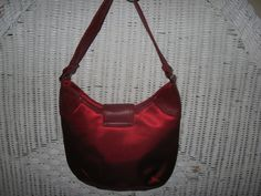 Vintage Cherry Red Satin Lizard Handbag with by SerrinDipitous, $14.00