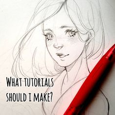 Been wanting to do some sort of tutorials but it might be good to do mini really specific tutorials. I'd love to get your suggestions and please please be very specific like not just colouring but colouring what exactly, skin, hair, eyes etc or like drawing short hair, making clean sketches for example. Whatever youre interested in and maybe you'd like learn from me!
