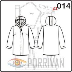 Vzor dámských letní bunda s kapyushnom