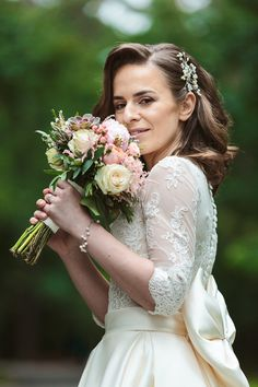 Romance and beautiful Bridal Bouquet in pastels, designed by Anca Maria Brie Flower Bouquets, Bridal Flowers, Flower Girl Dresses, Greece Wedding, Romantic Weddings, Bridal Portraits, Brie, Beautiful Bride, Pastels