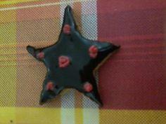 Galleta estrella con chocolate. Ummmm!!