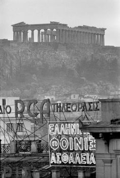 Athens, Greece 1957 by Rene Burri. Greece Pictures, Old Pictures, Old Photos, Rare Photos, My Athens, Athens Greece, Greek History, Acropolis, Greece Travel