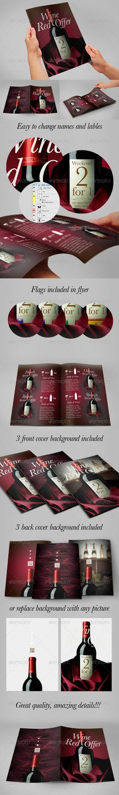 Wine Flyer - Special Offer PSD Flyer  Template • Only available here ➝ http://graphicriver.net/item/wine-flyer-special-offer-flyer/5944148?ref=pxcr