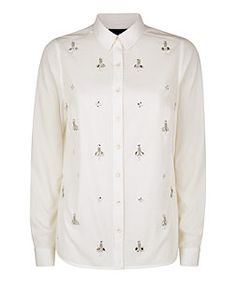 New Look Anita and Green White Embellished Front Shirt: Was £24.99 now £15