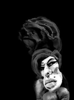 Portrait of Amy Winehouse Amy Winehouse, Joker, Illustrations, Statue, Portrait, Fictional Characters, Art, Art Background, Headshot Photography