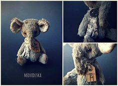 Mini elephant #miniature #vintagestyle #vintage #antique  #elephant #arttoy #artistteddybear by medveduska