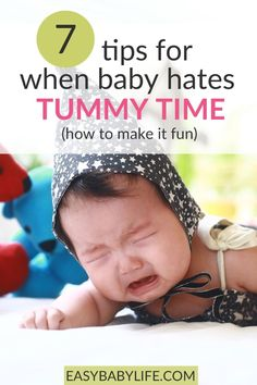What to do when a baby hates tummy time? Here are tips to make the tummy time much more endurable - even fun! Baby development, baby activities, baby care, 3-month-old baby, #baby 3 Months Baby Activities, Infant Activities, Learning Activities, 3 Month Old Baby Pictures, Baby Tummy Time, 2 Month Old Baby, Newborn Baby Tips, Fun Baby, Baby Baby