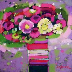 Scottish Artist Pam GLENNIE - Birthday Blooms