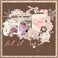 Layout created with the Winter White Collection by River Rose Designs