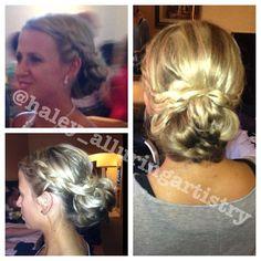 braided curly bun.  @haley_alluringartistry