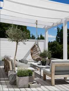 Gravity Home: Scandinavian Home of Pella Hedeby Outdoor room Porch Pergola Diy Pergola, Pergola Shade, Pergola Kits, Pergola Ideas, Cheap Pergola, Patio Kits, Porch Kits, Outdoor Pergola, Outdoor Rooms