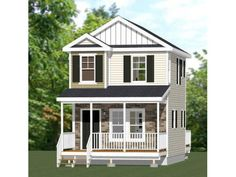 Cabin House Plans, Small House Plans, House Floor Plans, Faux Brick Panels, Brick Paneling, Tiny House Layout, House Layouts, Tiny House Village, Tiny Houses