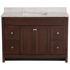 Home Decorators Collection Brinkhill 48 In Vanity Cabinet Only In Chocolate Home The O 39 Jays