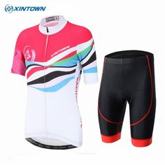 0ec58b25dce 2017 XINTOWN Ropa Ciclismo Bike Jersey Shorts Sets Women Pro Cycling  clothing Suits Girls Red White bicycle mtb Top bottom-in Cycling Sets from  Sports ...