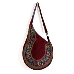Boho Guitar Tote Burgundy, $37, now featured on Fab.