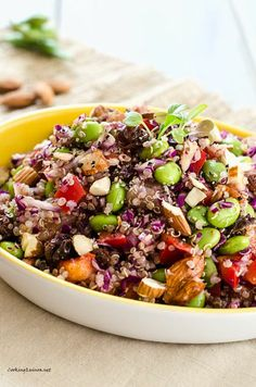Edamame Quinoa Salad - was very yummy.  I added chicken.  Could have used a bit more dressing.