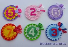 Bright Felt Birthday Badges £3.75