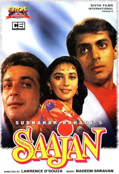 Saajan: Aman (Sanjay Dutt) is a poor, handicapped orphan who is befriended by wealthy Akash Verma (Salman Khan) during his childhood. Akash's parents adopt him and give him their family name,